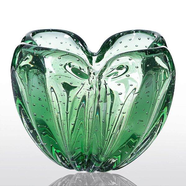 Cachepot de Decoração em Murano - Luck - Verde Esmeralda - P