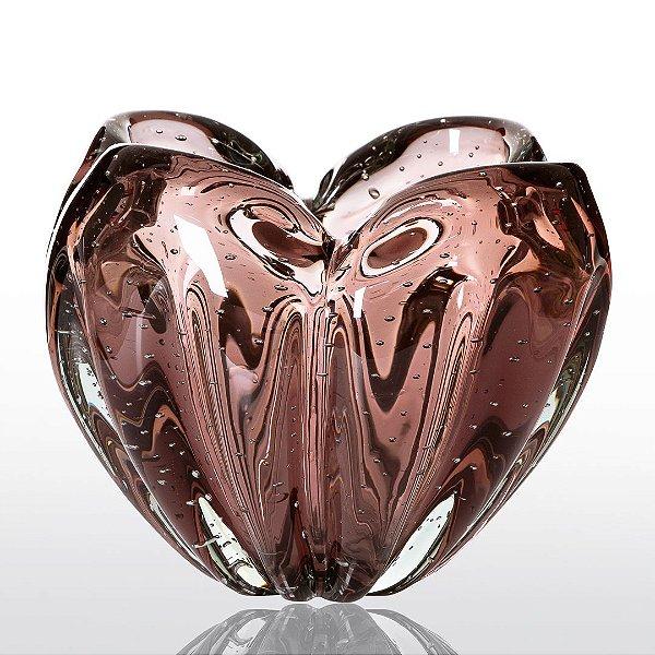 Cachepot de Decoração em Murano - Luck - Vintage Rosê - M