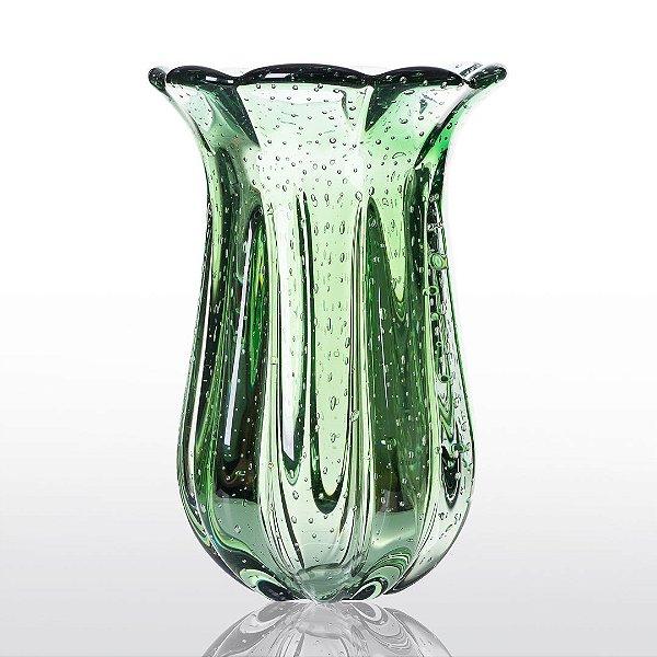 Vaso de Decoração em Murano - Verde Esmeralda - Apolo