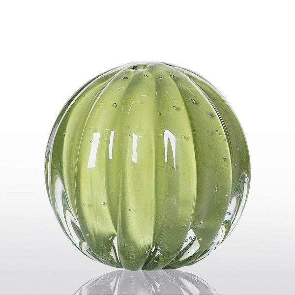 Bola de Decoração em Murano - Verde Avocado - Dear - Tam M