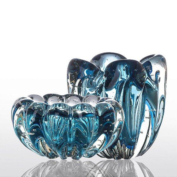Kit Murano - Cachepot Charming + Cachepot Téo - Aquamarine