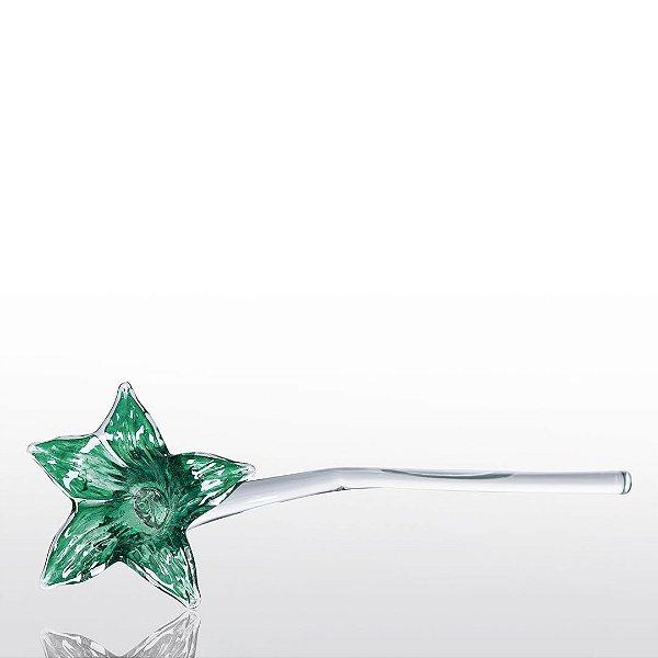 Flor de Decoração em Murano - Primavera Verde Esmeralda
