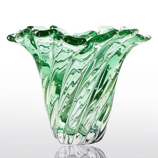 Vaso de Decoração em Murano - Verde Esmeralda - Provença - Tam. P