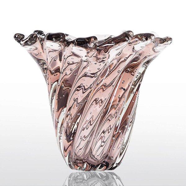 Vaso de Decoração em Murano - Vintage Rose - Provença - Tam. P
