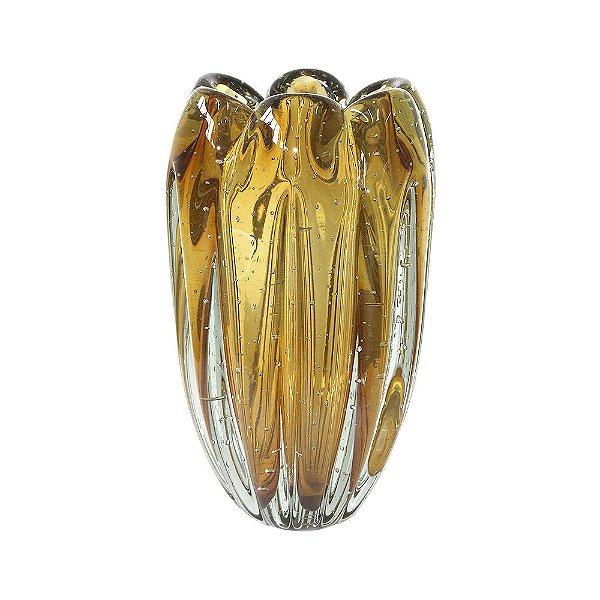 Vaso de Decoração em Murano - Ambar - Jelly - Tam G