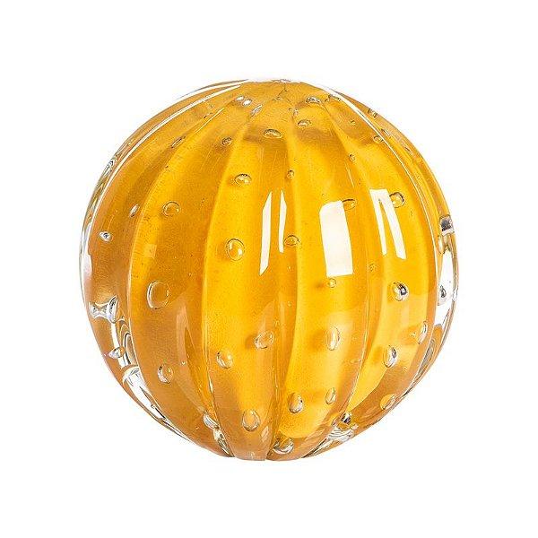 Bola de Decoração em Murano - Amarela - Dear - Tam G