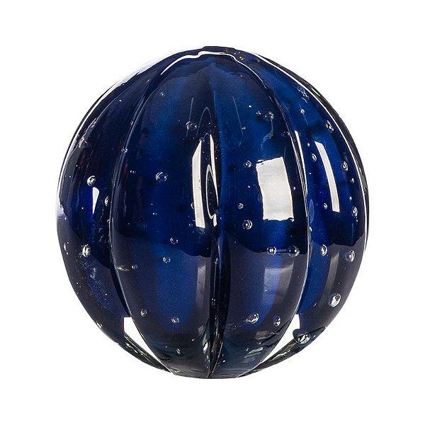 Bola de Decoração em Murano - Azul Escuro - Dear - Tam P