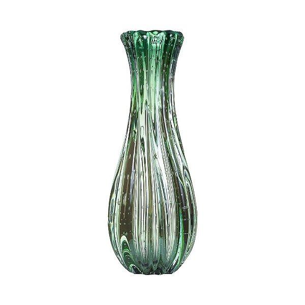 Vaso de Decoração em Murano - Verde Esmeralda - Powerfull - Tam M