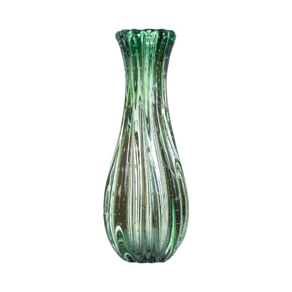 Vaso de Decoração em Murano - Verde Esmeralda - Powerfull - Tam GG