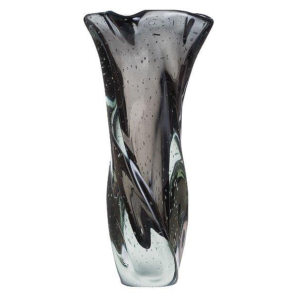Vaso de Decoração em Murano - Grafite - Twist - Tam G