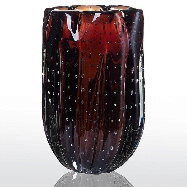 Vaso de Decoração em Murano - Marrom - Jelly - Tam M