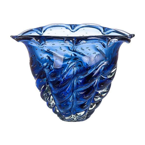 Vaso de Decoração em Murano - Safira - Vita - Tam M