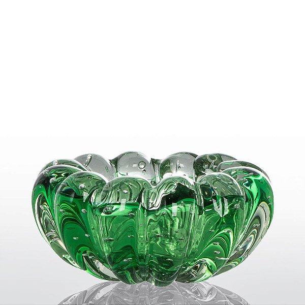 Cachepot de Decoração em Murano - Verde Esmeralda - Téo - Tam M