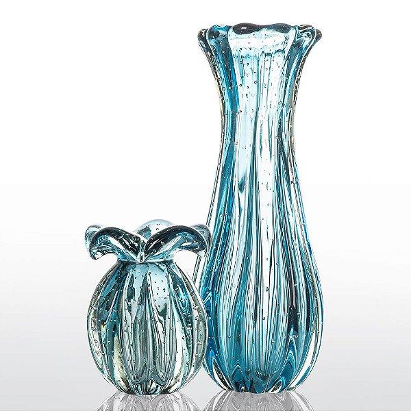 Kit Murano Trouxinha Little Pack + Vaso Powerfull - Aquamarine