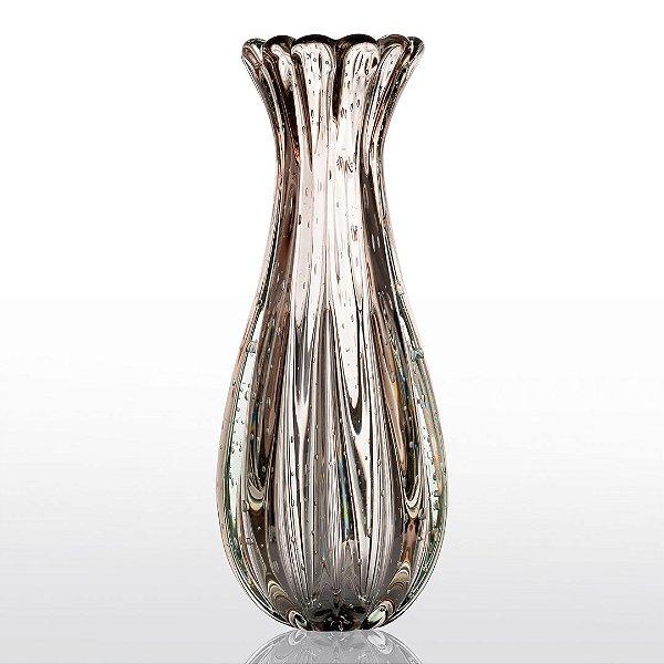 Vaso de Decoração em Murano - Vintage Rose - Powerfull - Tam G
