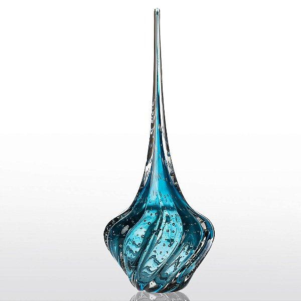 Gota de Decoração em Murano - Aquamarine - Ball - Tam M