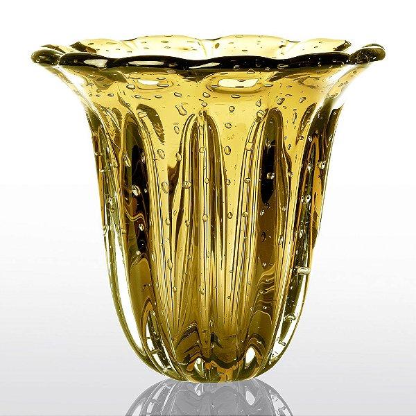 Vaso de Decoração em Murano - Ambar - Elegance