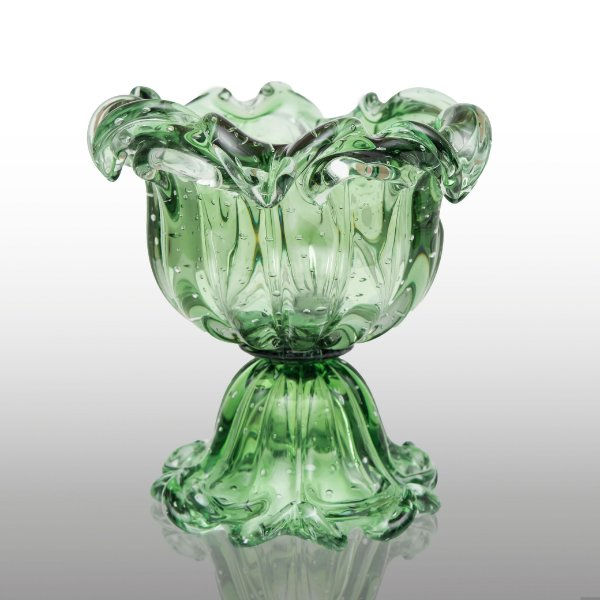 Vaso de Decoração em Murano Paris Verde Esmeralda Tam Único