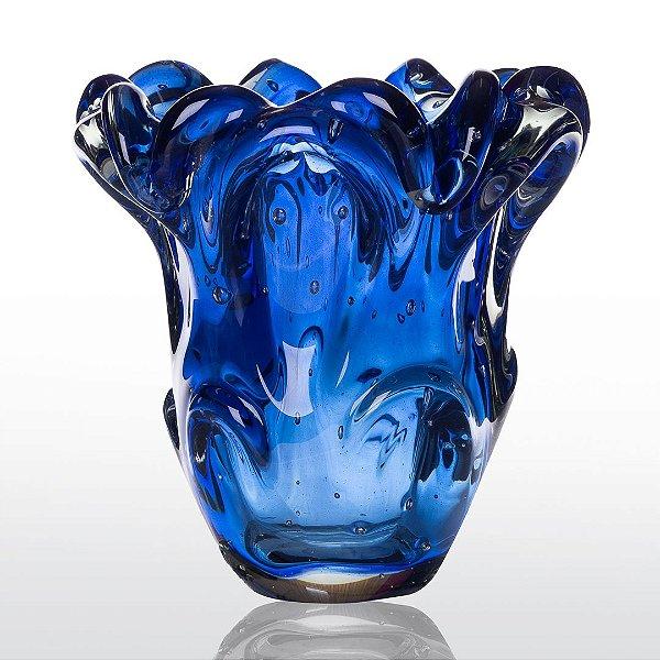 Vaso de Decoração em Murano -- Azul Safira - Turim
