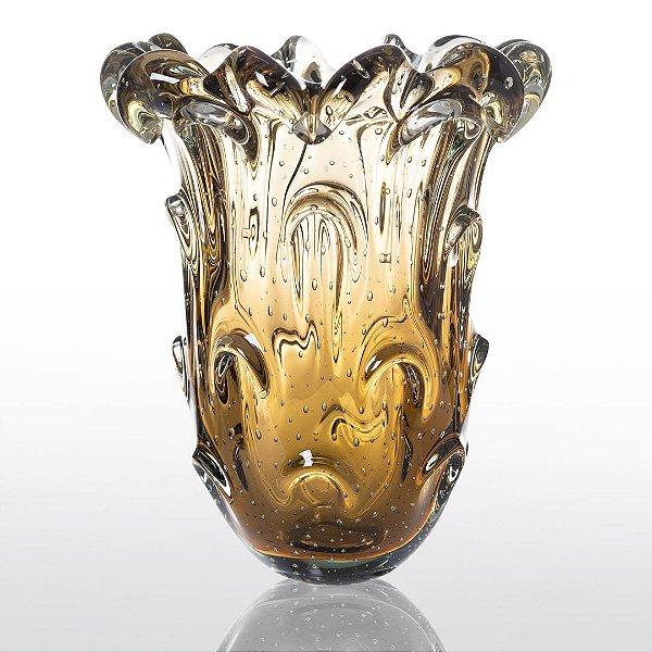 Vaso de Decoração em Murano - Âmbar - Torino