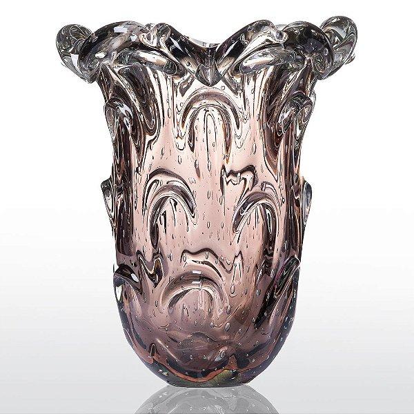Vaso de Decoração em Murano - Vintage Rose - Torino