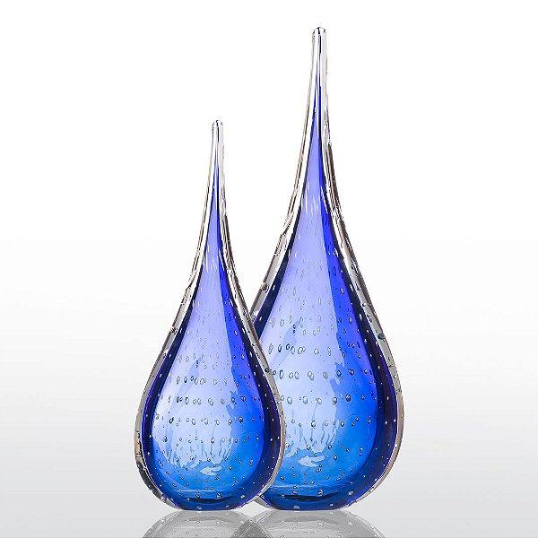 Kit Murano - Gotas Modelo Leaf - Azul Safira