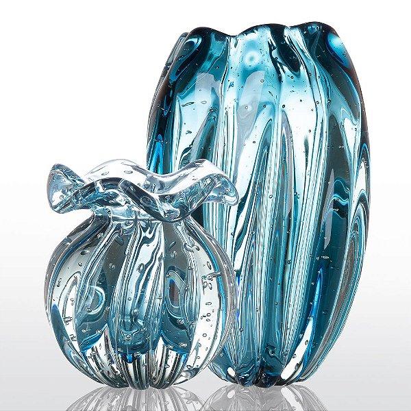 Kit Murano Trouxinha Love + Vaso Jelly - Aquamarine