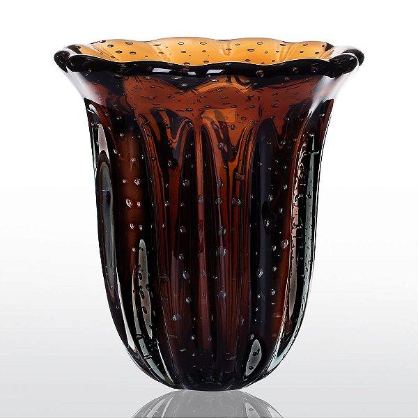 Vaso de Decoração em Murano - Marrom - Elegance