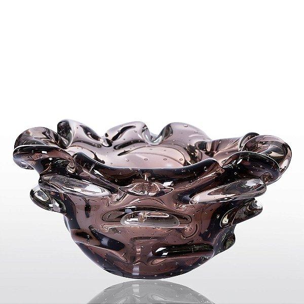Cachepot de Decoração em Murano - Vintage Rose - Escamoso
