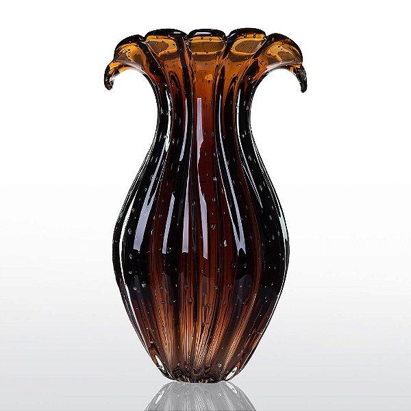Vaso de Decoração em Murano - Marrom - Ly - Tam GG