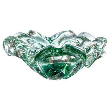 Cachepot de Decoração em Murano - Sweet - Verde Esmeralda - P