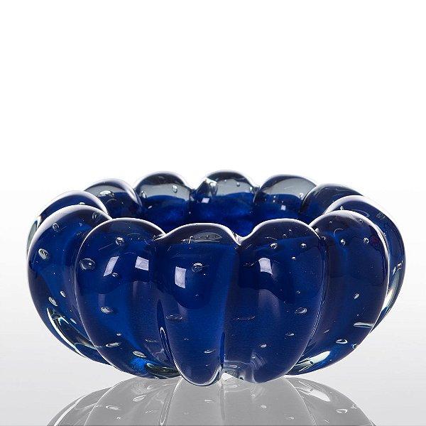 Cachepot de Decoração em Murano - Azul Escuro- Téo - Tam M