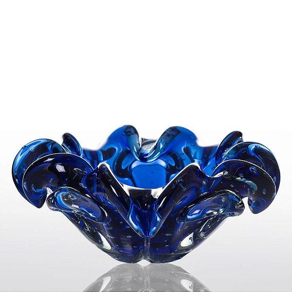 Cachepot de Decoração em Murano - Sweet - Azul Safira - M