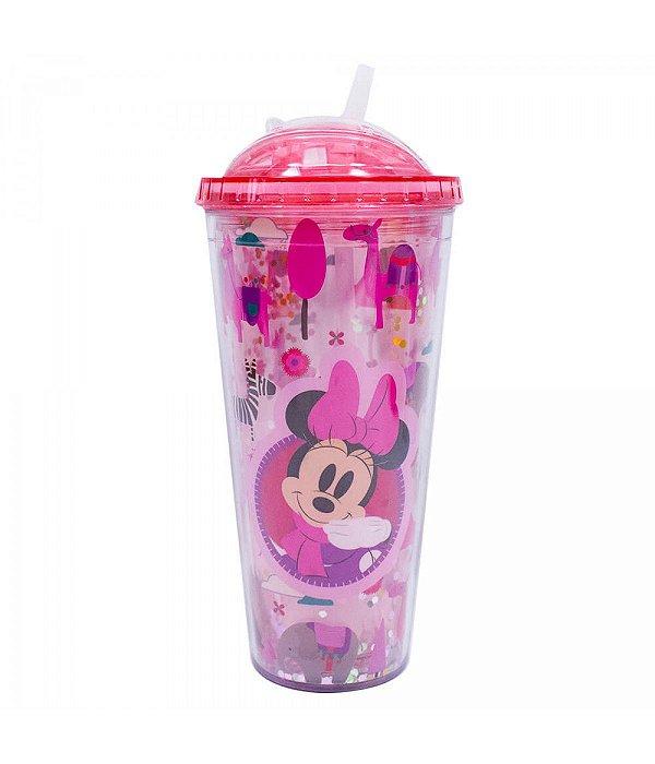 Copo Rosa Minnie Cubos Gelo Artificial - Disney 600 ml