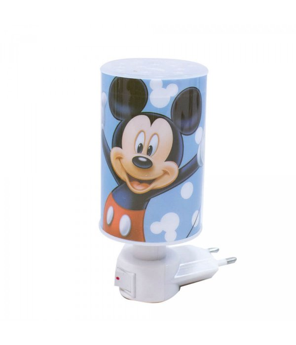 Luminária Abajur de tomada Azul Mickey Mouse Disney