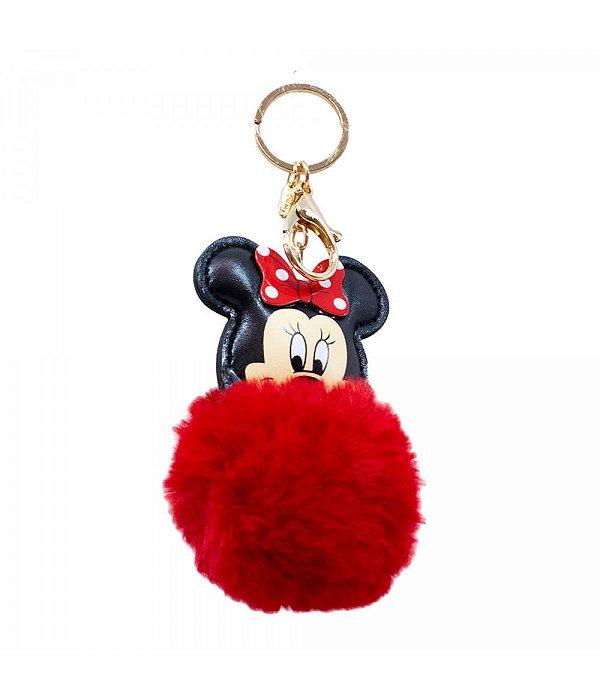 Chaveiro Minnie Pom Pom Vermelho Disney