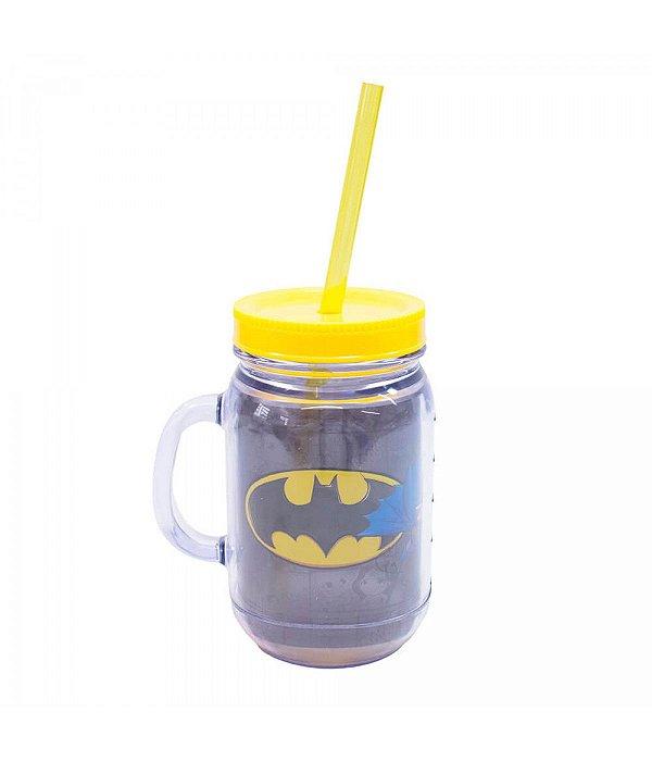 Liga Da Justiça Caneca De Plástico Com Canudo Batman 420ml