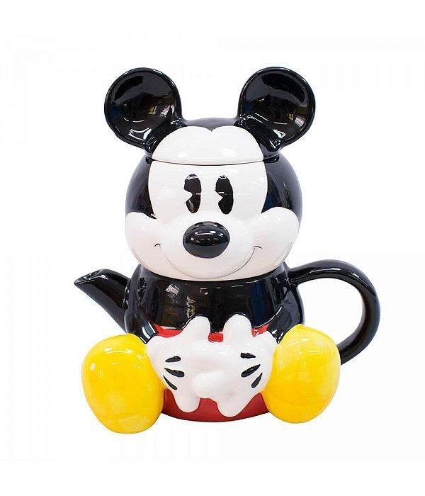 Bule 720ml Caneca Formato Mickey Disney 210 ml