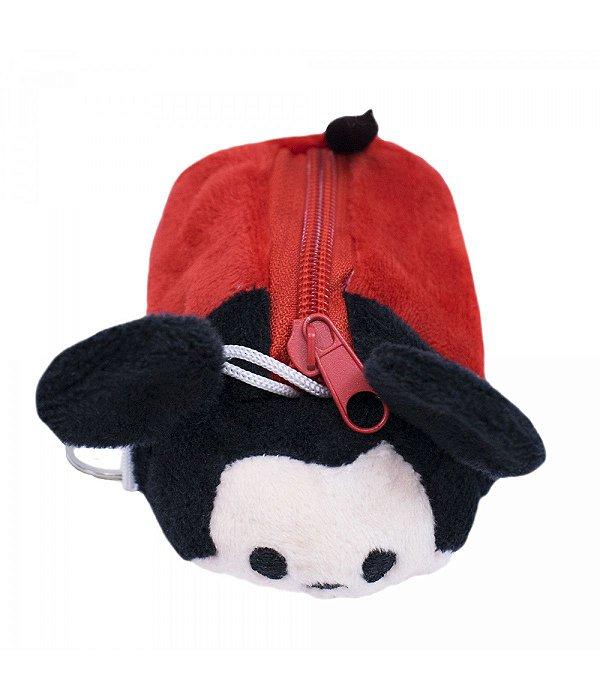 Porta Moeda Pelúcia Formato Mickey Tsum Tsum  Disney
