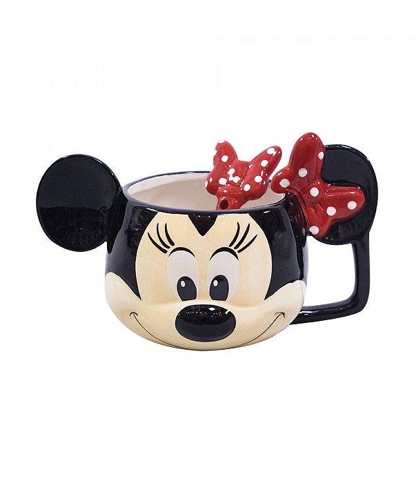 Caneca De Porcelana formato rosto Minnie Mouse  - Disney 280ml