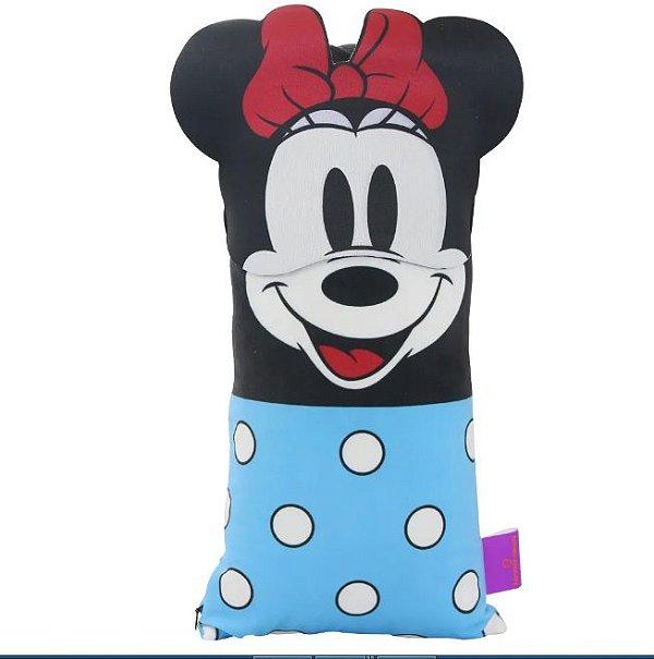 Kit almofada mais máscara de dormir Minnie Mouse Disney