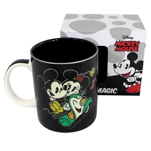 Caneca Mágica Mickey E Minnie Route Lamou 300ml