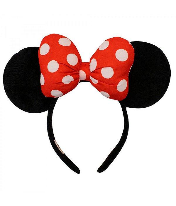 Tiara Minnie Mouse laço Disney