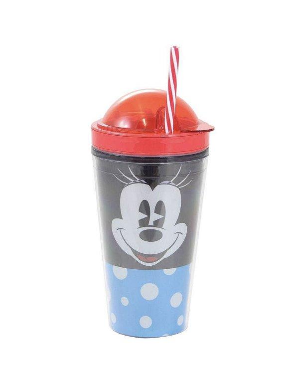 Copo Canudo 2 em 1 Minnie mouse Disney Faces 500ml
