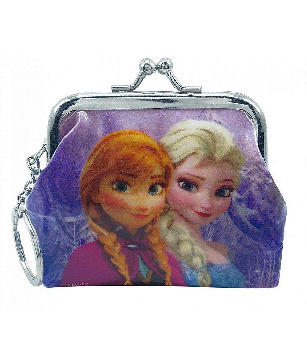 Chaveiro Porta Moeda Anna & Elsa Frozen Disney
