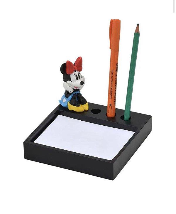 Porta Bloco De Notas Canetas Minnie Mouse Disney