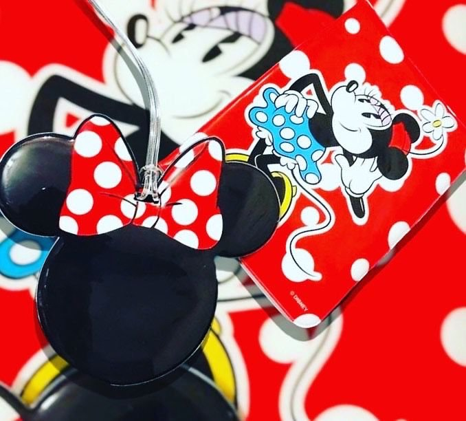 Kit tag minnie  + capa passaporte Minnie  Disney