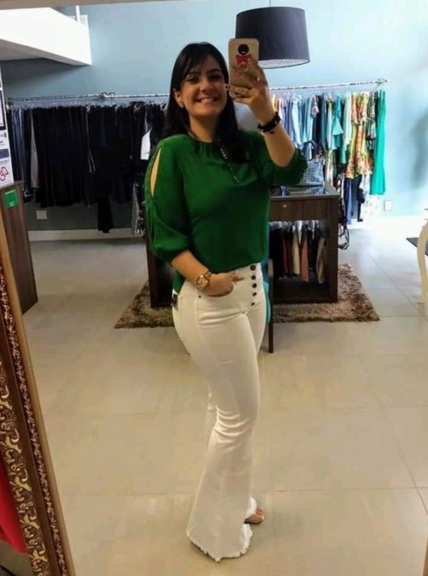 Calça Jeans Botões Flare Branca