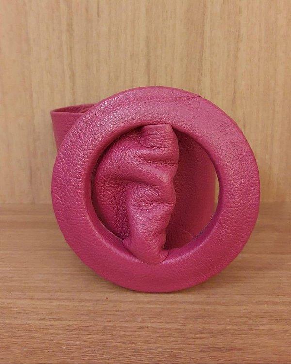 Cinto Faixa Fivela Forrado Pink