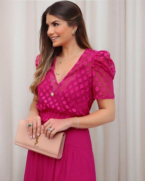 Blusa Tule Pink